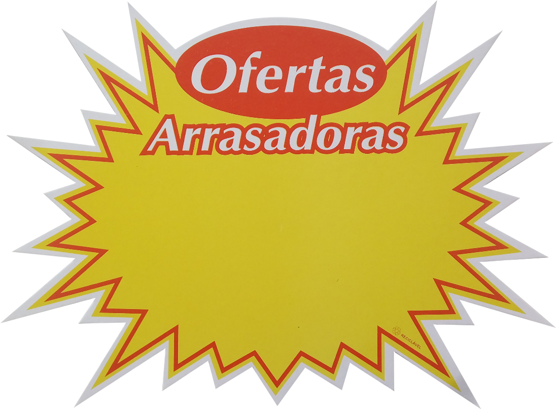 CARTAZ SPLASH OFERTA ARRASA 25un. 21,5 x 30cm MD240